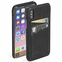 Krusell Sunne 2 Card Cover for Apple iPhone X - Vintage Black