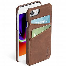 Krusell Sunne 2 Card Cover for Apple iPhone 6/6S/7/8 - Vintage Cognac