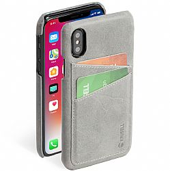 Krusell Sunne 2 Card Cover for Apple iPhone X - Vintage Grey