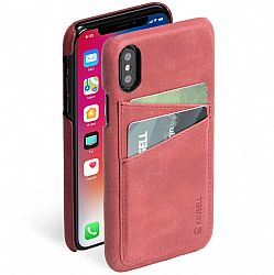 Krusell Sunne 2 Card Cover for Apple iPhone X in Vintage Red
