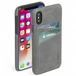 Krusell Sunne 2 Card Cover for Apple iPhone X/Xs - Vintage Grey