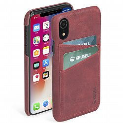 Krusell Sunne 2 Card Cover for Apple iPhone Xr - Vintage Red