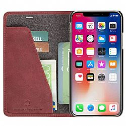 Krusell Sunne 4 Card FolioWallet for Apple iPhone Xs Max - Vintage Red