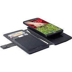 Krusell Malmo FlipWallet Slide Case 5XL Black for iPhone 6 Plus /  Sony Xperia Z2 /  Samsung Galaxy Note 4 amongst others - Black