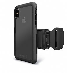 BodyGuardz Trainr Pro Case with Armband for Apple iPhone X -  Black/Gray