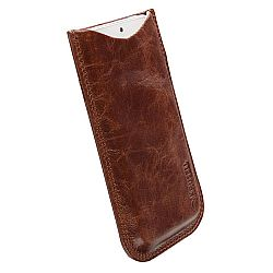 Krusell 95411 Tumba Stylish Leather Pocket Pouch L Long for NEW iPhone 5 - Vintage Brown