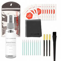 RevJams Cleaning Kit for True Wireless Bluetooth Earbuds (27 pc) Antibacterial Liquid, Anti-Static Brush, Micro Fiber Cleaning Cloth for Bluetooth Earbuds, Noise Cancelling Headphones and More